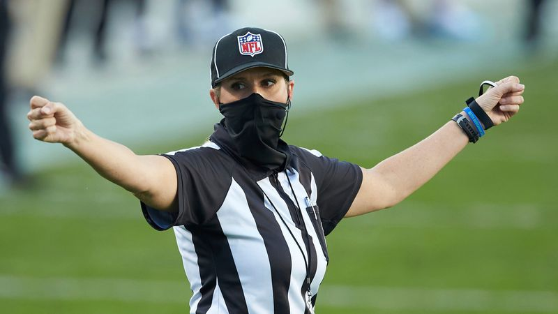 Sarah Thomas will cap her sixth NFL season by becoming the first female to officiate the Super...
