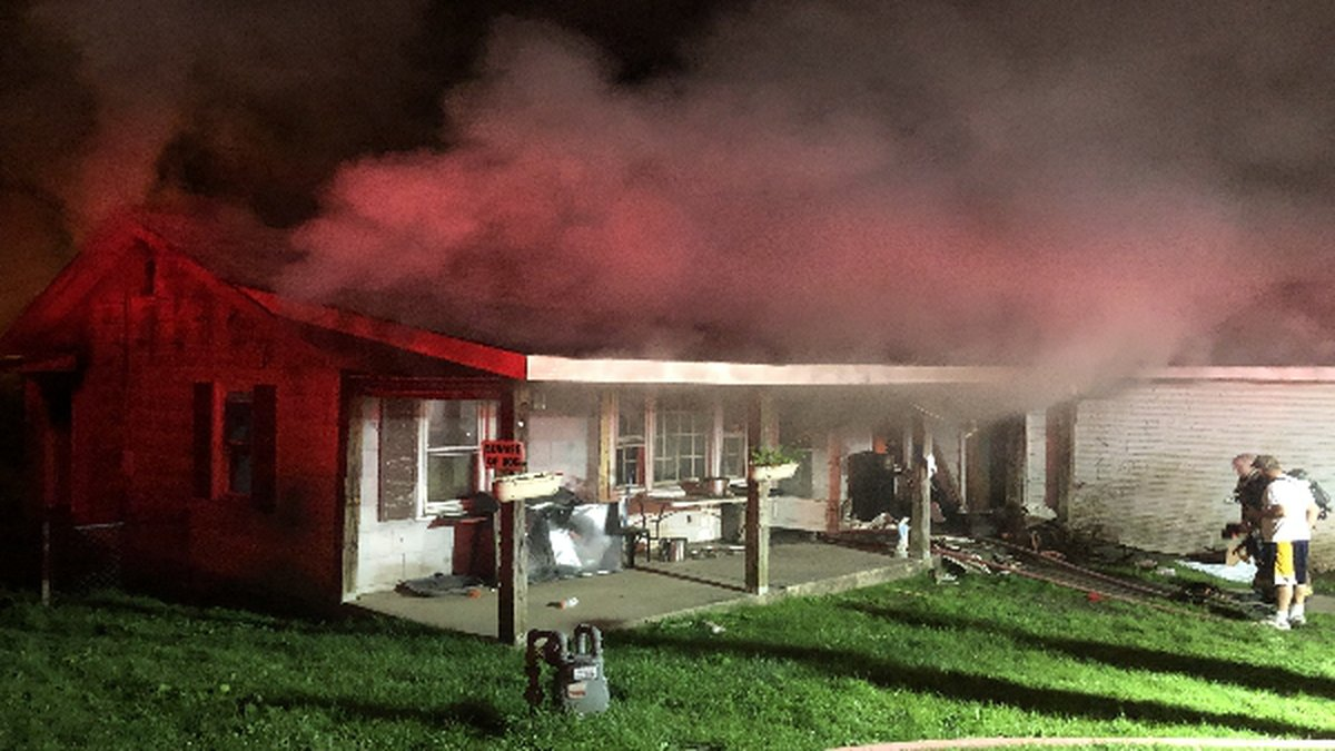 Fire heavily damaged a home in Cross Lanes early Thursday morning. No one was home when the...