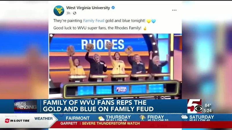 West Virginia family represents WVU with Gold and Blue on Family Feud