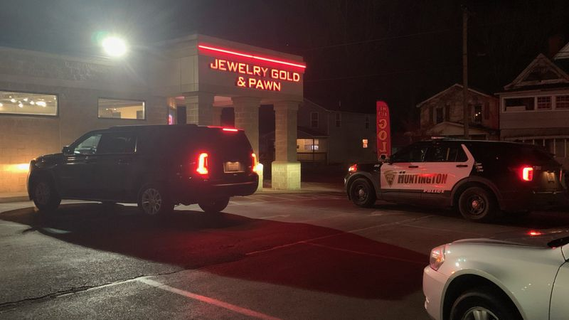Huntington Police are on the scene of an armed robbery Friday evening at a pawn shop in the...