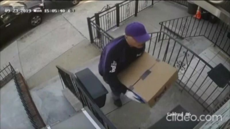 A robbery suspect made his way into a New York family's home by posing as a FedEx delivery man....