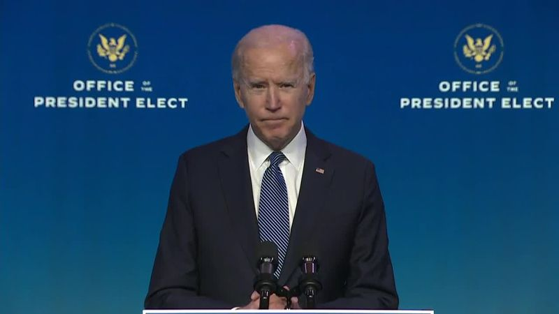 "Biden calls Wednesday one of the ""darkest days in the history of our nation."" (Source: CNN)"