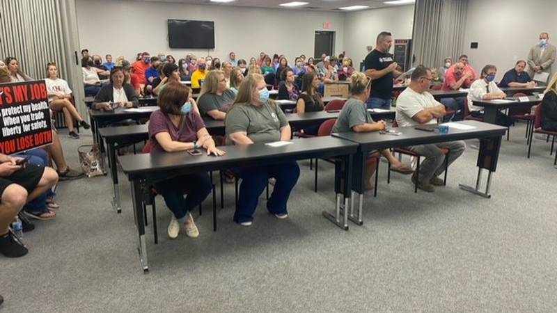 Parents filled the Putnam County Board of Education meeting Tuesday night to voice their...