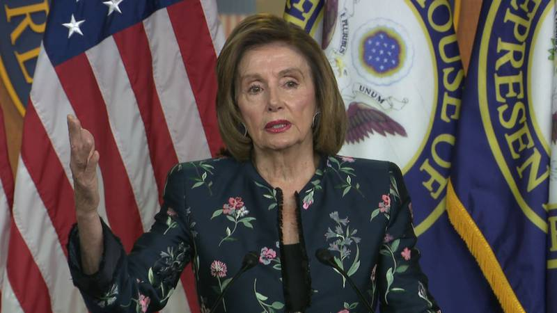 """House Speaker Pelosi on not appointing some lawmakers to the Jan. 6 commission: """"While this may..."""