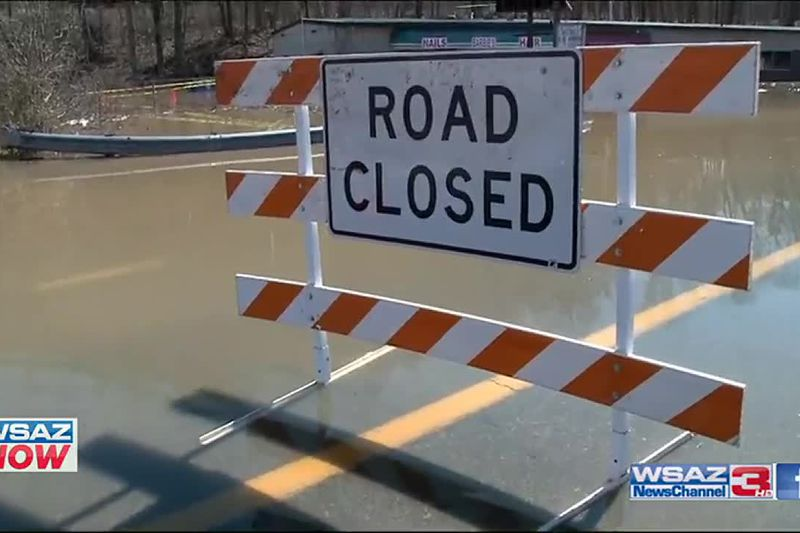 High water has made its way into businesses and a church along Route 60 near West Mall Road in...
