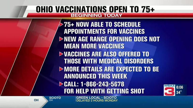 Ohio broadens vaccine eligibility