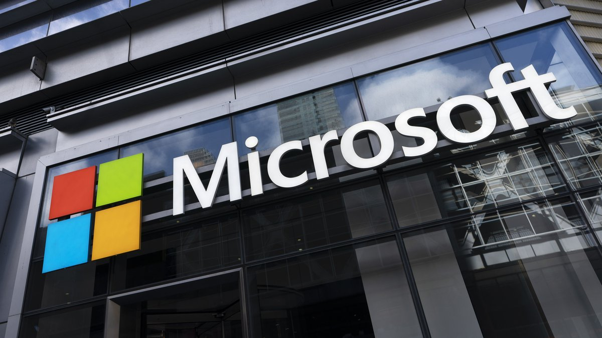 FILE - This May 6, 2021 photo shows a sign for Microsoft offices in New York.