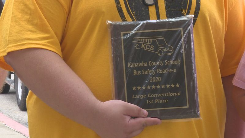 Chris Ring took home the first place plaque in the school bus 'road-e-o' competition. This...