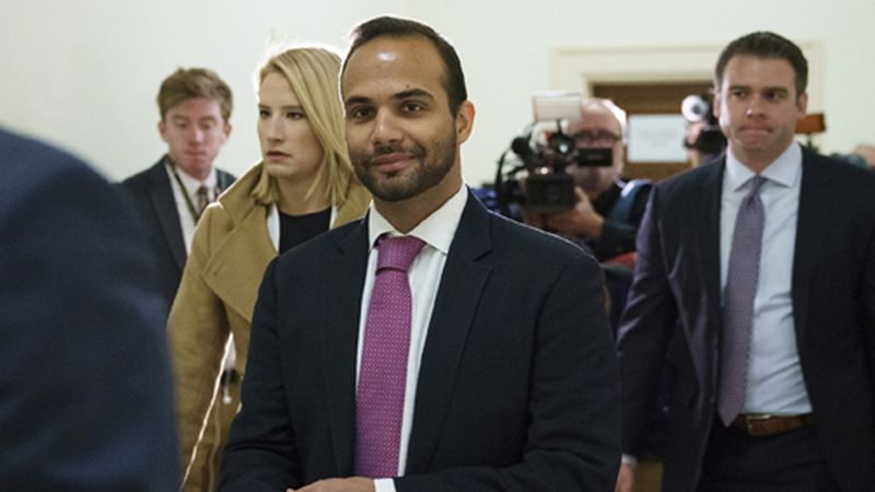 In this Oct. 25, 2018 file photo, George Papadopoulos, the former Trump campaign adviser who...