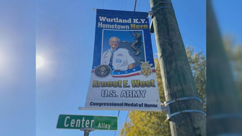 A 6th grade class at Wurtland Middle School raised money to fund a project to put banners up of...