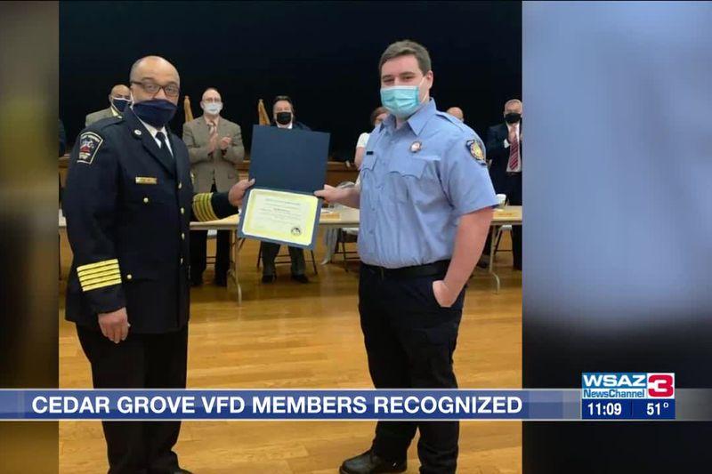 Cedar Grove Volunteer Fire Department members honored by State Fire Marshal's Office