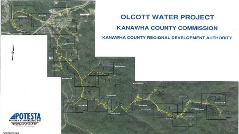 At Tuesday's Kanawha County Commission meeting, the financing of the Olcott Water Line...