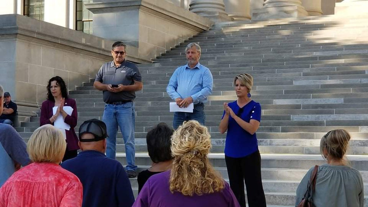 State Sen. Amy Grady spearheaded the event, saying lawmakers wanted to show health care workers...
