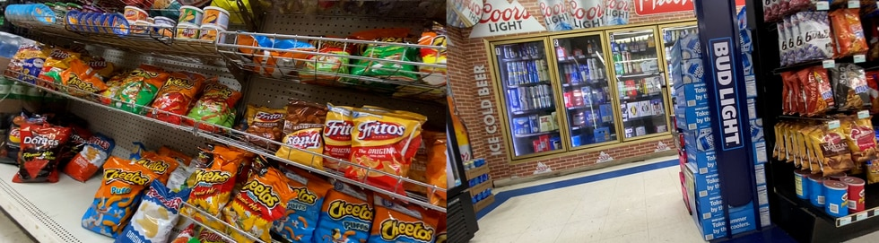 Many stores that accept food stamps that InvestigateTV visited had prominent shelves of chips,...