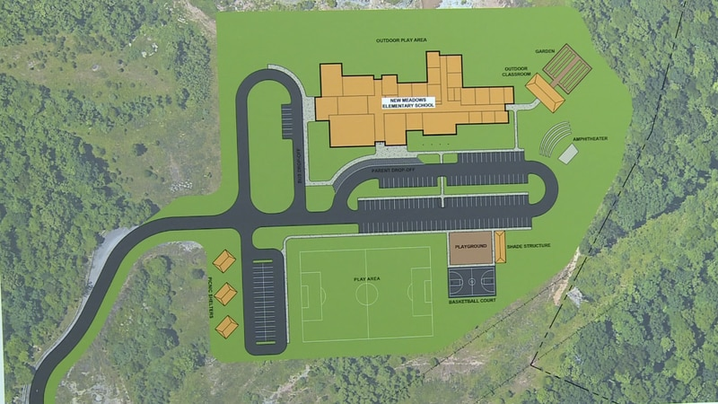 A new site along state Route 10 has been selected as the site of the new Meadows Elementary...