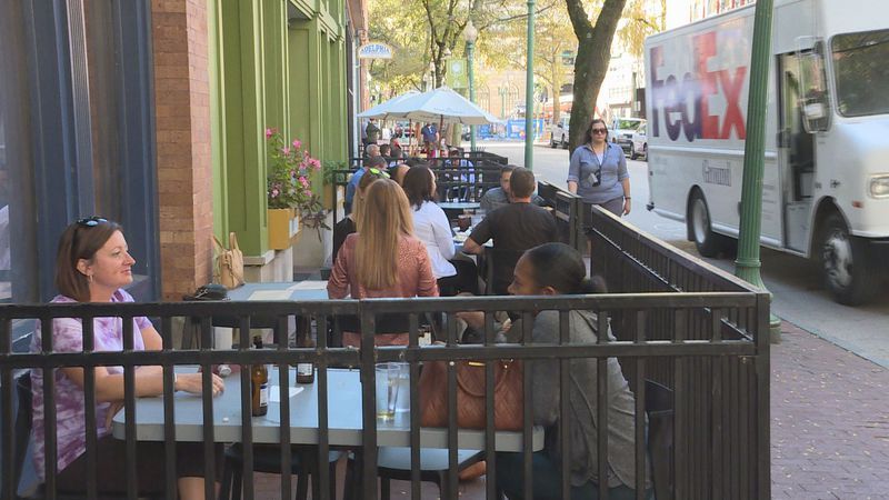 The city of Charleston will extend its outdoor dining program until the end of November to...