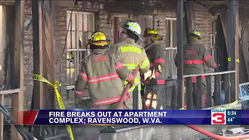 Fire damages apartment complex in Ravenswood, West Virginia