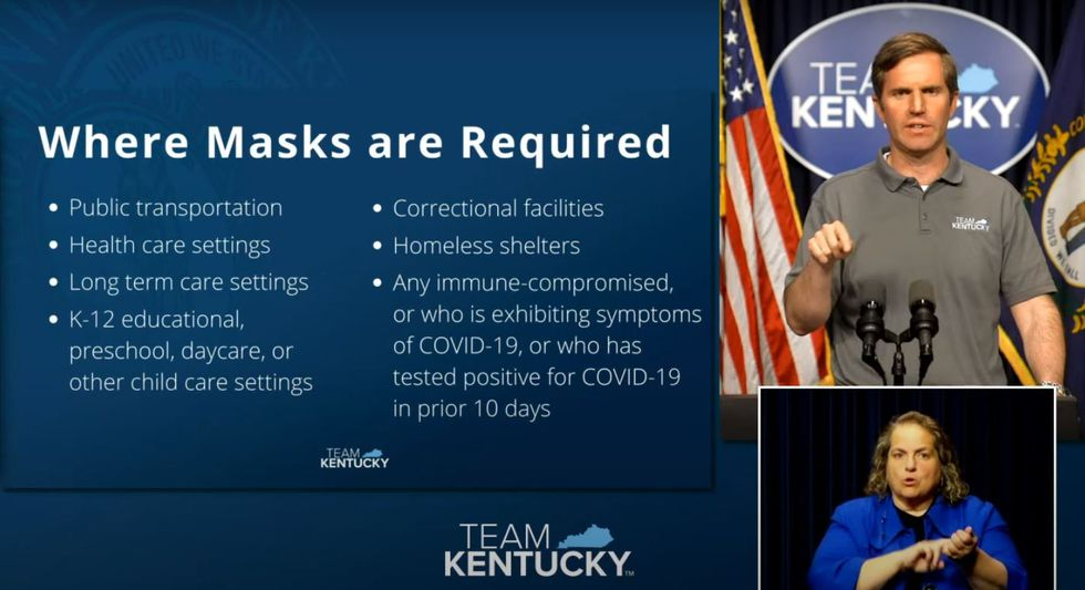 Where masks are required in Kentucky