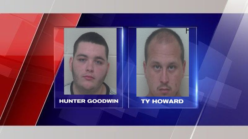 Arrested was Ty Howard, 23, of Lucasville, Ohio and Hunter Goodwin, 19, of Columbus, Ohio.