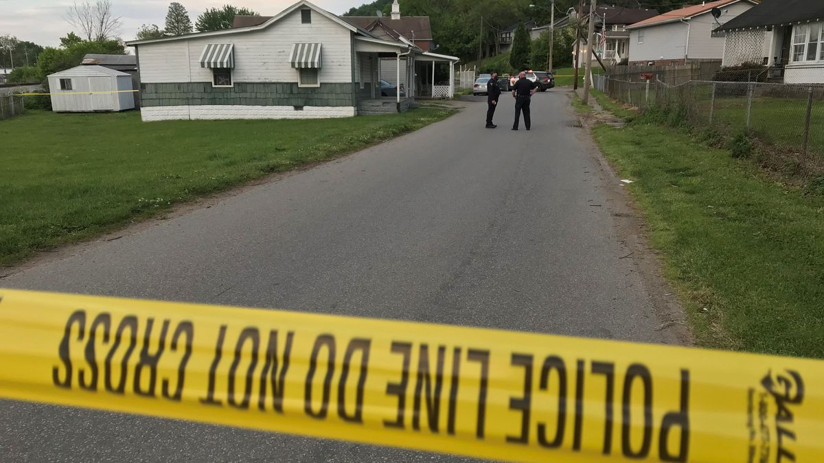 Crews responded Monday evening to a shooting at a home in the Guyandotte area of Huntington.
