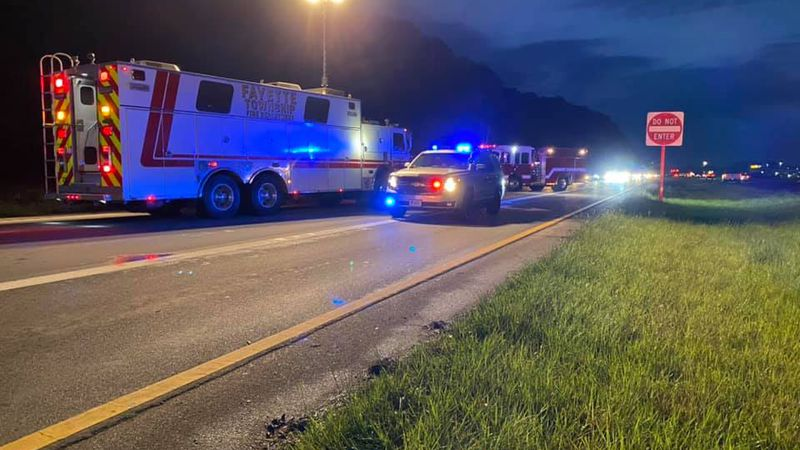 The crash was between a car and a semi according to the Fayette Township Fire Department.