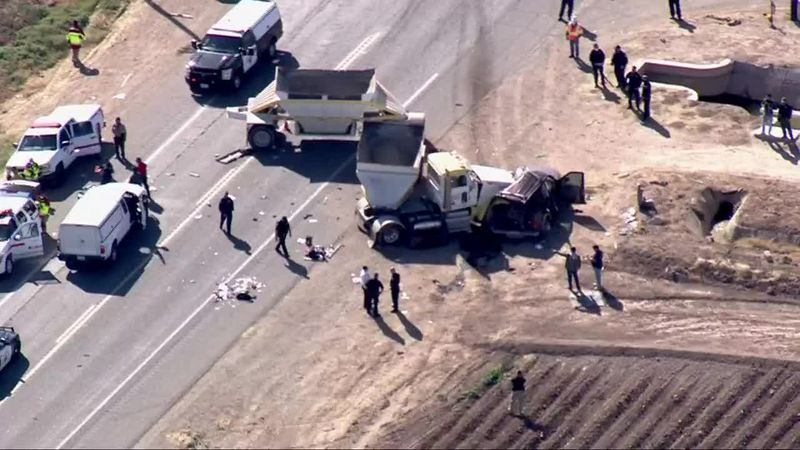 Officials said at least 15 people were killed in a crash involving an SUV and a semitruck in...