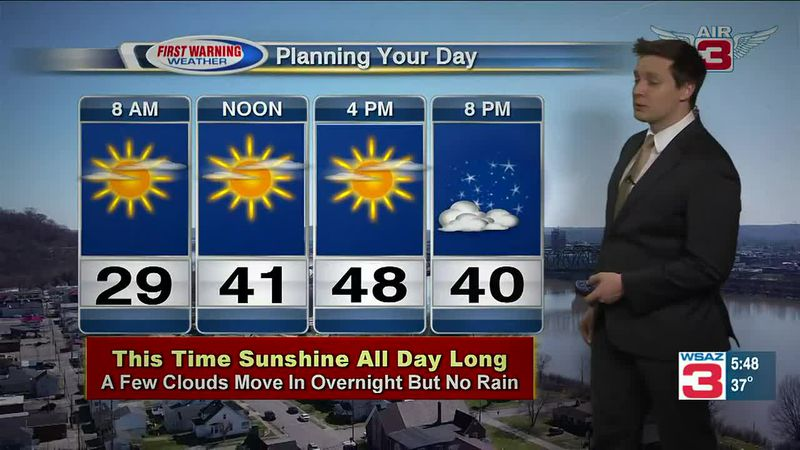 Meteorologist Drew Narsutis looks to a warming trend into Thursday and beyond to the weekend.