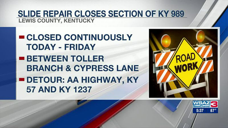 KY 989 to close for slide repairs