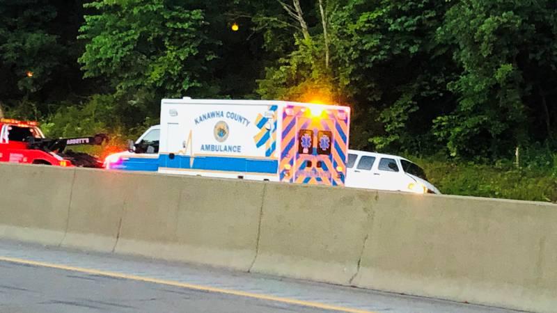The crash happened Thursday morning near the I-64 EB entrance ramp in Nitro.