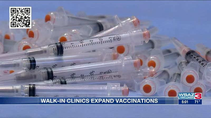 Walk-in clinics expand vaccinations