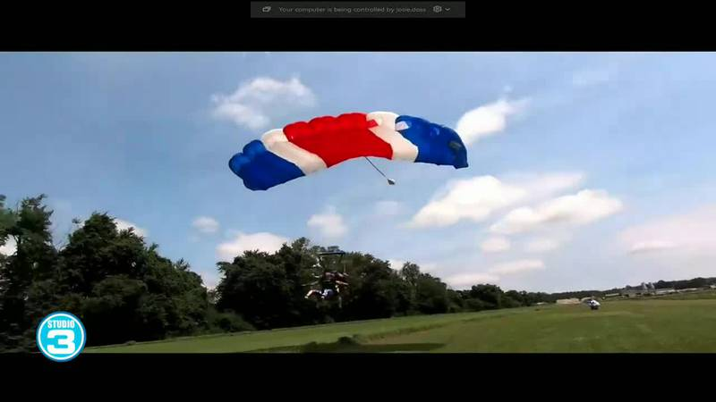 Chris Lane and mom talk skydiving