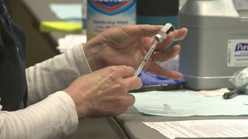 Data shows a large number of teachers are still waiting for their first COVID-19 vaccine...