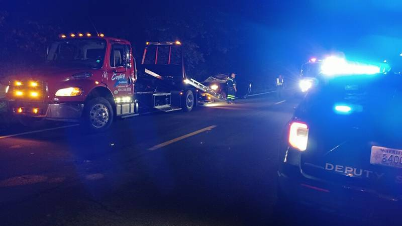 A man was taken to the hospital Wednesday night after a tree fell on his car along Greenbrier...