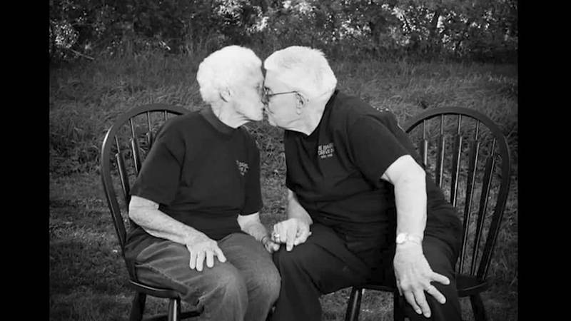 After a long life of love and faith together, a wife and her husband, both in their 90s, died...