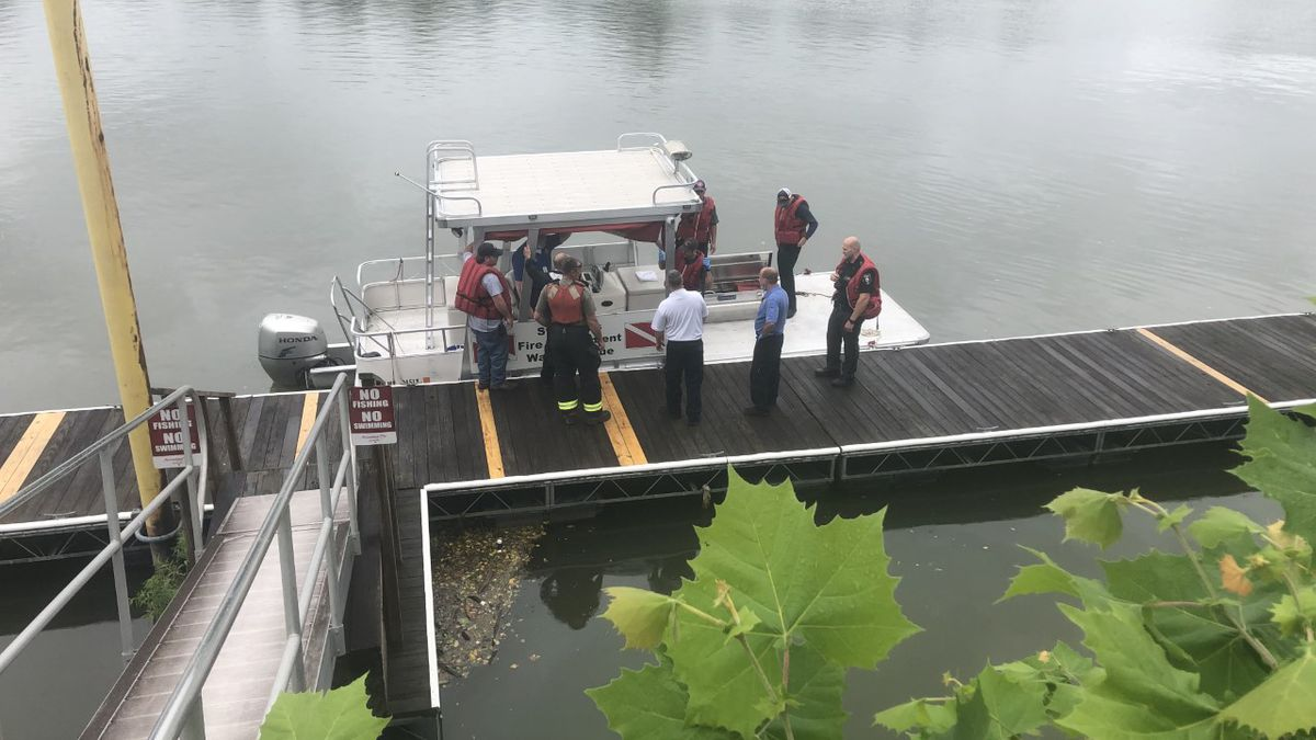 A body has been found floating down the Kanawha River Sunday.