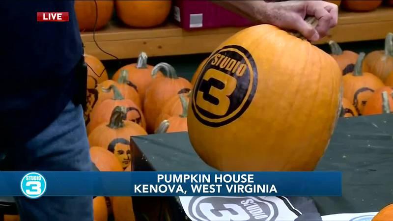 Carving a Studio 3 pumpkin