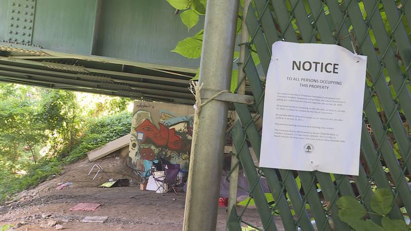 The city of Charleston is working to remove homeless encampments and help the people staying in...