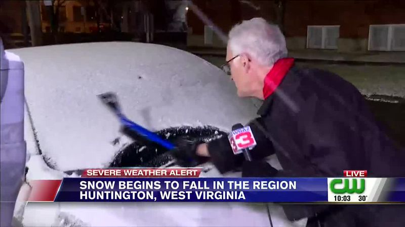 Snow from a fast moving clipper system coated much of the Tri-State on Wednesday night.