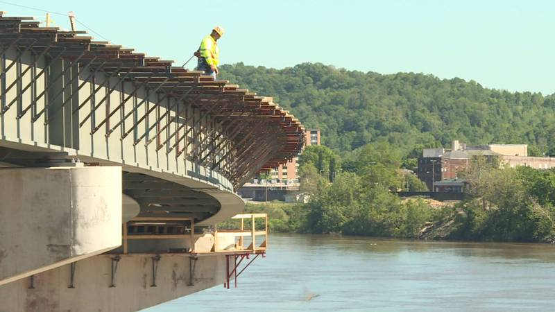 The new Russell viaduct is scheduled to be completed sometime this summer.