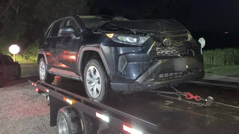 The Ohio State Highway Patrol says Stephen Easterling crashed into a vehicle while making a turn.