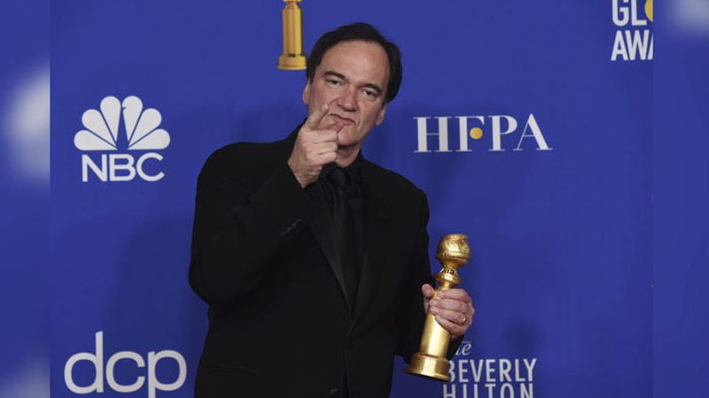 """Quentin Tarantino, winner of the award for best director, motion picture, for """"Once..."""