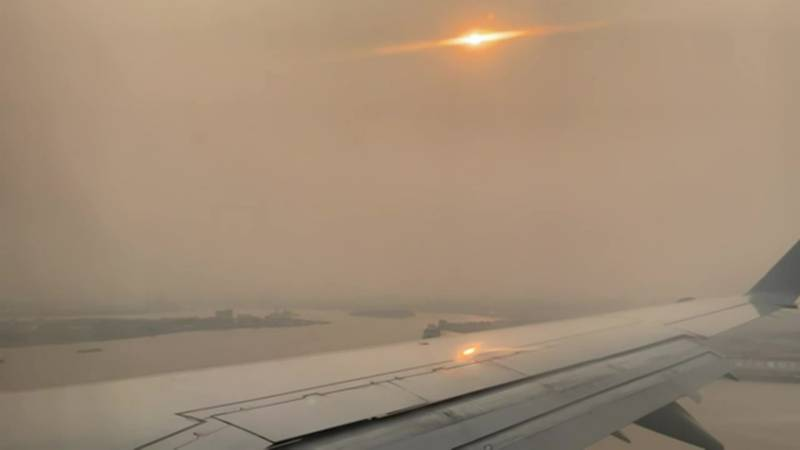 The smoke on the U.S. East Coast was reminiscent of last fall when multiple large fires burning...