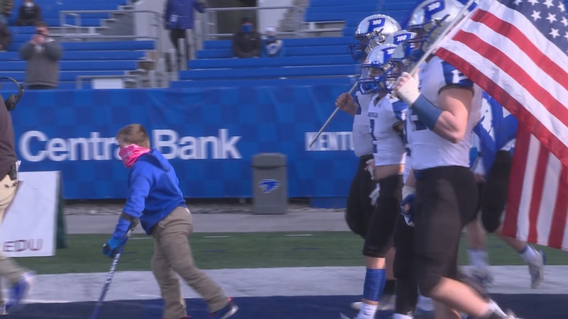 Paintsville takes the field in the Class 1A championship in 2020.