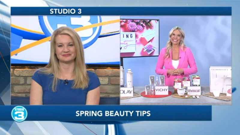Spring beauty tips on Studio 3