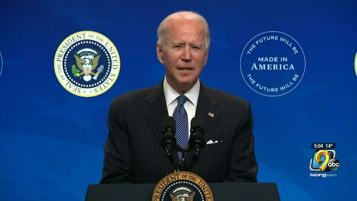 President Joe Biden signs executive orders on climate change and environment protection.
