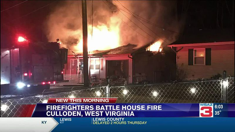 No injuries in Culloden fire