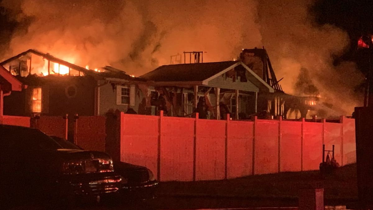Fire seriously damaged a home Monday night along County Road 15 in Lawrence County, Ohio.