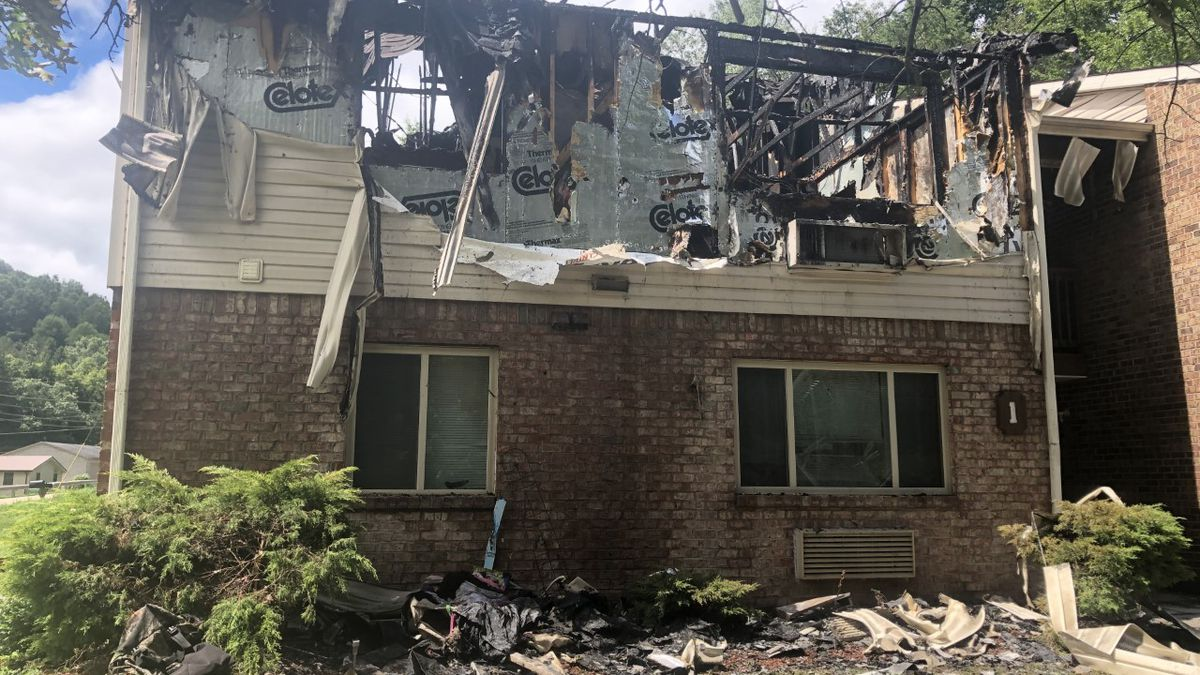 Dispatchers say the fire was reported just after 5 a.m. Sunday at the Meg Village Apartments in Sissonville.