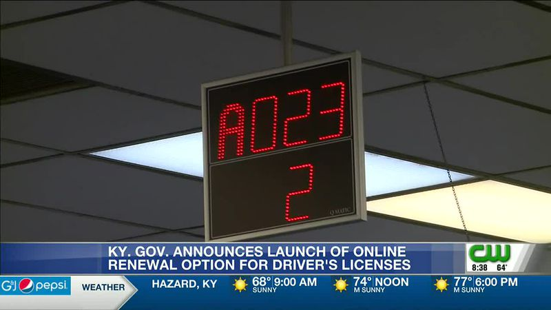 Kentucky launches online renewal option for driver's licenses
