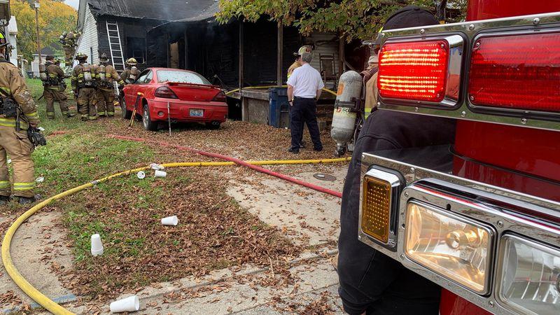 Firefighters control house fire in Ashland, Ky. (WSAZ Staff Photo/Photojournalist Grover Tadlock)